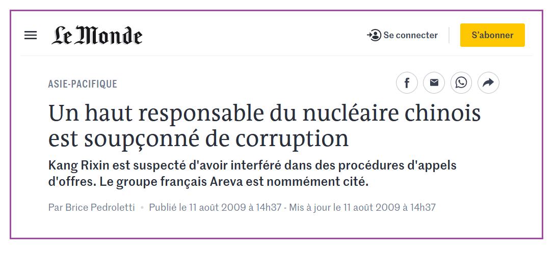 L'ex-agent secret qui en sait beaucoup trop #12 Areva et l'argent de l'affaire UraMin: corruption en Chine?