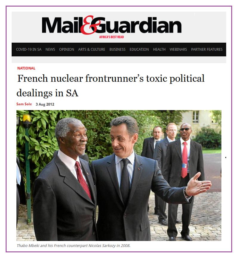 L'ex-agent secret qui en sait beaucoup trop #12 Areva et l'argent de l'affaire UraMin: corruption en Afrique du Sud?