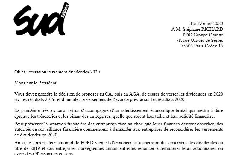 EXCLUSIF - Les syndicats demandent au PDG d'Orange de ne pas verser de dividendes