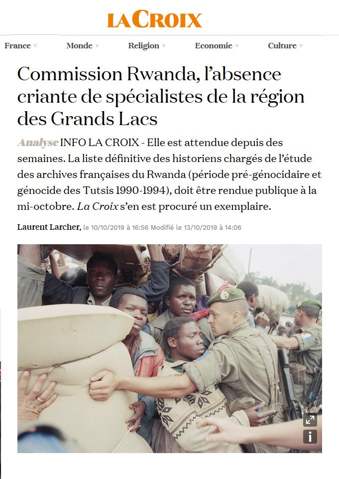 Rwanda: la France et le génocide des Tutsi |  Hélène Dumas, Stéphane Audoin-Rouzeau